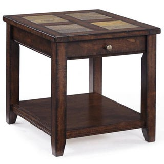 Magnussen Home Furnishings Allister Wood Rectangular End Table