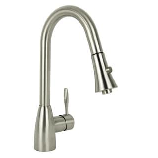 Modern European Brushed Nickel Pull Down Kitchen Faucet