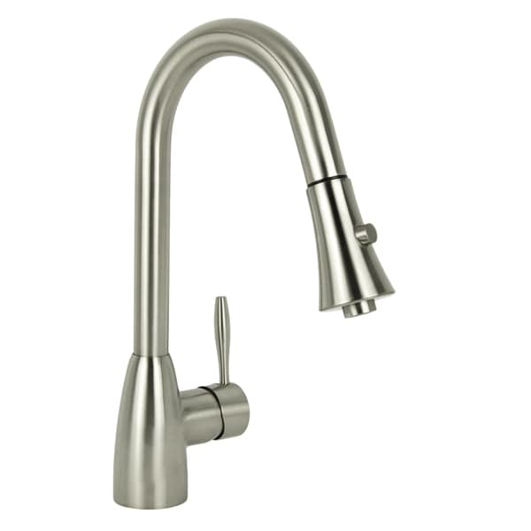 Modern European Brushed Nickel Pull Down Kitchen Faucet