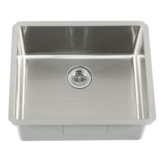 Schon Undermount 16 Gauge Stainless Steel Radius Corner Single Bowl Bar Sink