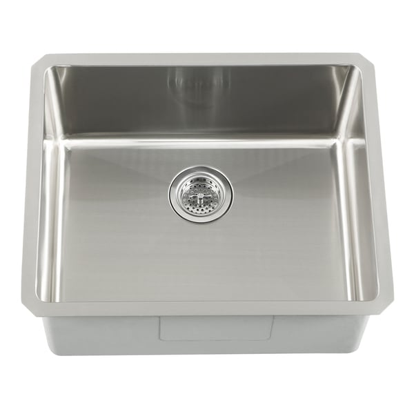 Stainless Corner Sink : ... Undermount 16 Gauge Stainless Steel Radius Corner Single Bowl Bar Sink