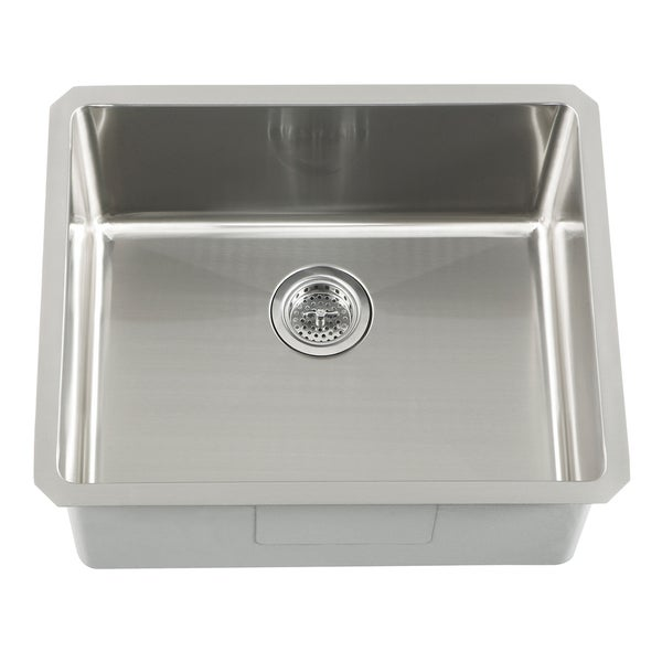 Corner Undermount Sink : Undermount 16 Gauge Stainless Steel Radius Corner Single Bowl Bar Sink ...