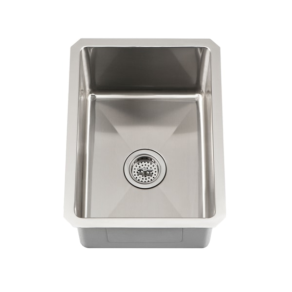 Undermount Corner Kitchen Sinks Stainless Steel : ... Undermount 16 Gauge Stainless Steel Radius Corner Single Bowl Bar Sink