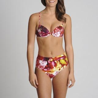 Newport News 2-piece Floral High-waist Bikini Set