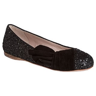 Miu Miu Women's Glitter and Suede Flats