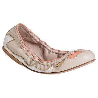 Miu Miu Women's Flex Sole Multicolor Padded Leather Flats