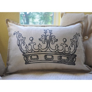 Queen Crown Print Decorative Small Bolster Pillow