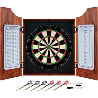 Trademark Games Beveled Wood Dart Cabinet Pro Style Board