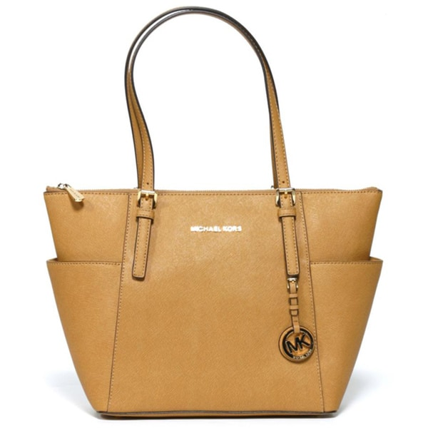 Michael Kors Jet Set Zip-top Tan Tote