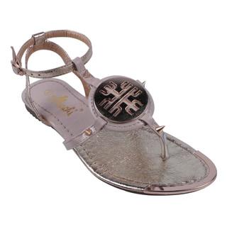 Machi by Beston Women's 'ELLIE-4' T-Strap Gladiator Thong Sandals