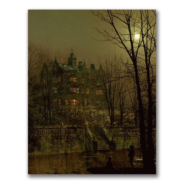 John Grimshaw 'Knostrop Old Hall Leeds' Canvas Art