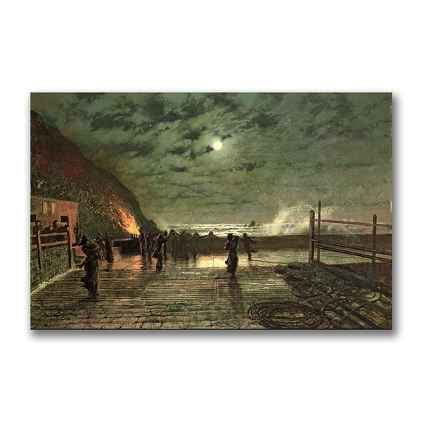 John Grimshaw 'In Peril' Canvas Art