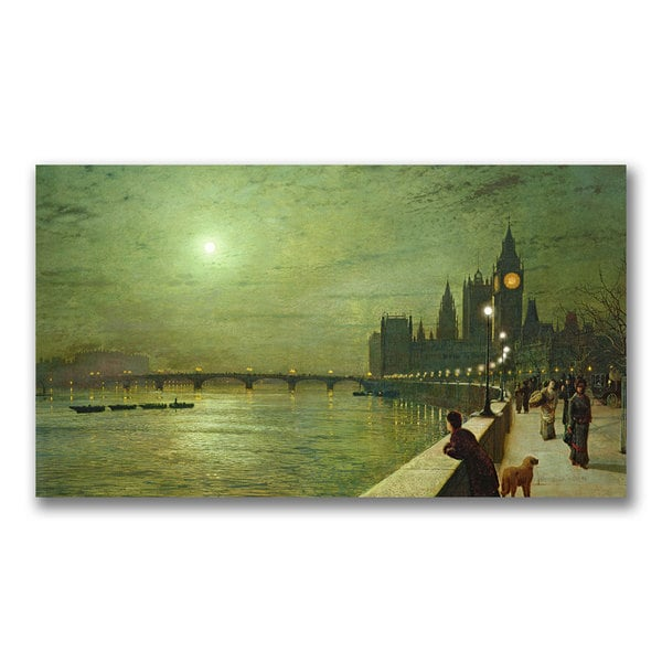 John Grimshaw 'Reflections on the Thames' Canvas Art