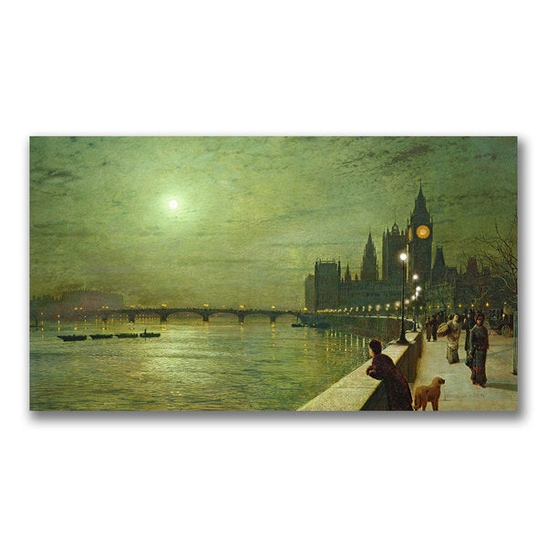 John Grimshaw 'Reflections on the Thames' Canvas Art