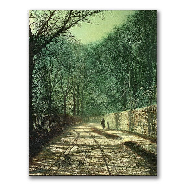 John Grimshaw 'Tree Shadows in the Park Wall' Canvas Art