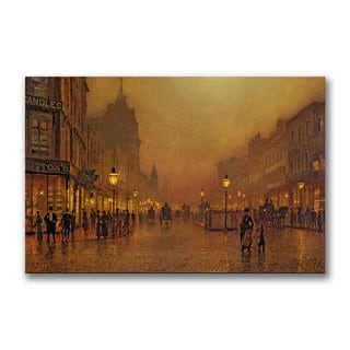 John Grimshaw 'A Street at Night' Canvas Art