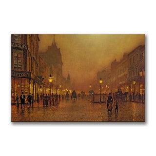John Grimshaw 'A Street at Night' Canvas Art