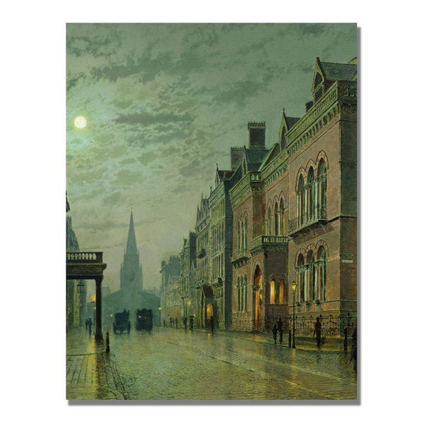 John Grimshaw 'Park Row Leeds' Canvas Art