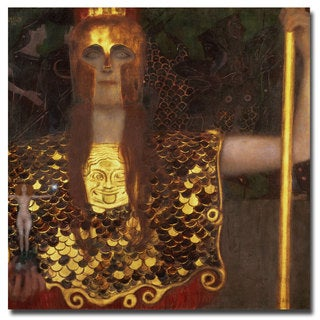 Gustav Klimt 'Minerva' Medium-Sized Canvas Art