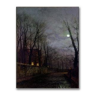 John Grimshaw 'Moonlit Street Scene II' Canvas Art