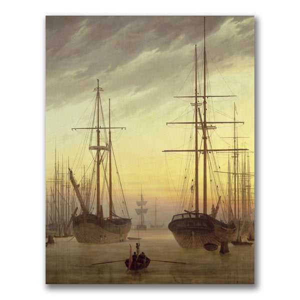 John Grimshaw 'View of a Harbour' Canvas Art