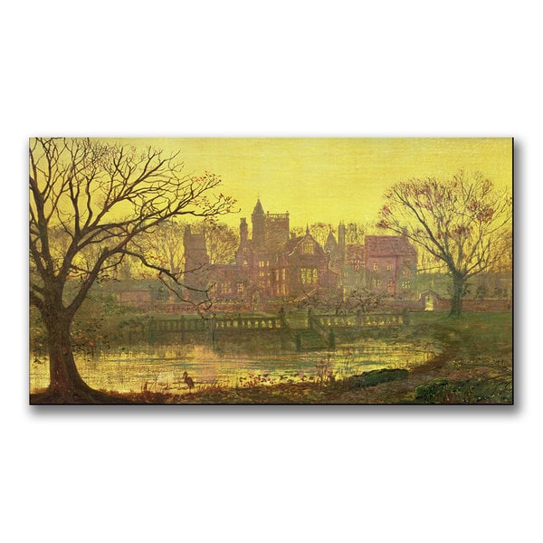 John Grimshaw 'The Moated Grange' Canvas Art