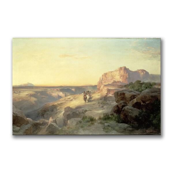 Thomas Moran 'Red Rock Trail South Utah' Canvas Art