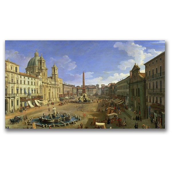 Canatello 'View of the Piazza Navona Rome' Canvas Art