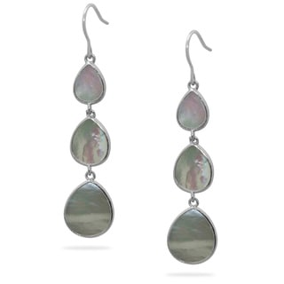 Gioelli Sterling Silver Mother of Pearl Chandelier Earrings