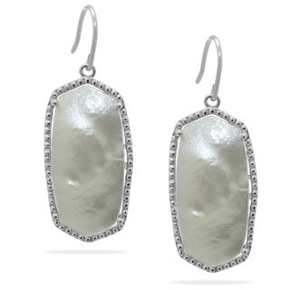 Michelle Lee Sterling Silver Mother of Pearl Hexagon-shaped Earrings