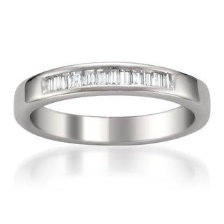 14k White Gold 1/4ct TDW Baguette Diamond Wedding Band (G-H, VS1-VS2)