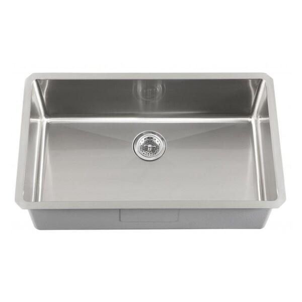 Schon Undermount 16-Gauge Stainless Steel Single Bowl Kitchen Sink