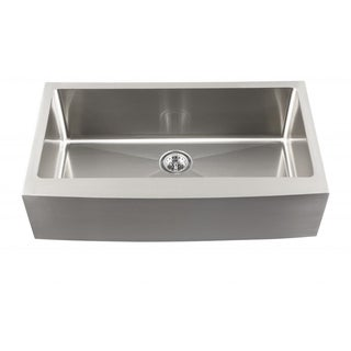 Schon Undermount 16-Gauge Stainless Steel Apron Front Single Bowl Kitchen Sink