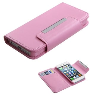 BasAcc Orange Book-Style Wallet Case for Apple iPhone 5