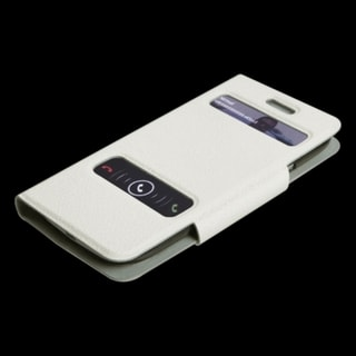 BasAcc White Book-Style Wallet Case for Samsung Galaxy S III/ S3