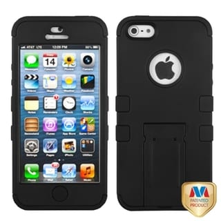 BasAcc Black Rubberized Case for Apple iPhone 5