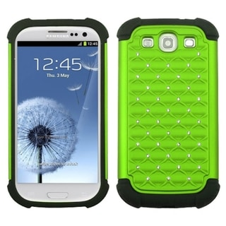 INSTEN Green/ Black Phone Case Cover for Samsung Galaxy S III/ S3