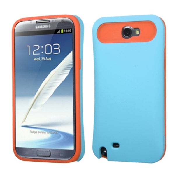 INSTEN Rubberized Wallet Phone Case Cover for Samsung Galaxy Note II/ Note 2