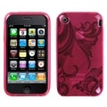 BasAcc Pink Morning Glory Candy Skin Case for Apple iPhone 3G/ 3GS