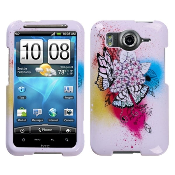 INSTEN Butterfly Paradise Phone Case Cover for HTC Inspire 4G