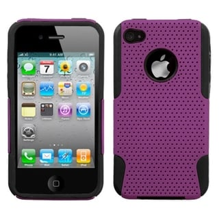BasAcc Purple/ Black Astronoot Case for Apple iPhone 4/ 4S