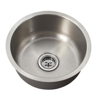 Schon Undermount 18-Gauge Stainless Steel Single Bowl Round Bar Sink