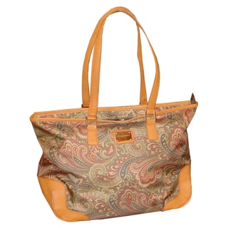 Adrienne Vittadini Paisley Weekenders 18-inch Carry On Laptop Travel Tote