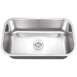 Schon Undermount 18-Gauge Stainless Steel Single Bowl Sink Kitchen Sink