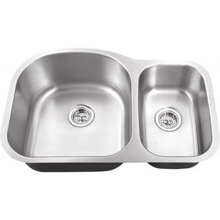 Schon Undermount 18-Gauge Stainless Steel 70/30 Kitchen Sink