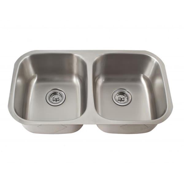 Schon 50/50 Undermount 16-Gauge Stainless Steel Kitchen Sink