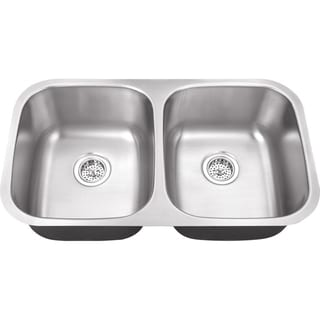 Schon Undermount 18-Gauge Stainless Steel 50/50 Kitchen Sink