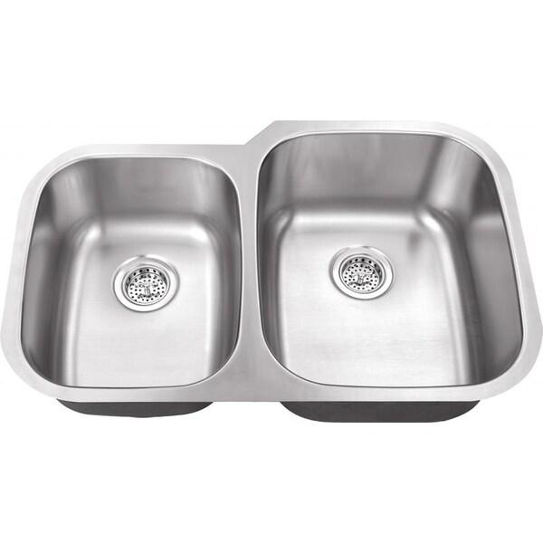 ... Undermount Double Even (50/50) Bowl 16 gauge Stainless Steel Kitchen
