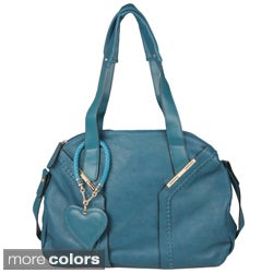 Journee Collection Women's Topstiched Double Handle Satchel