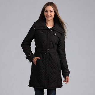 Kenneth Cole Women's Quilted Belted Coat